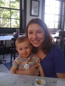 Outra grande paixão da Estela é o seu sobrinho Lucas.