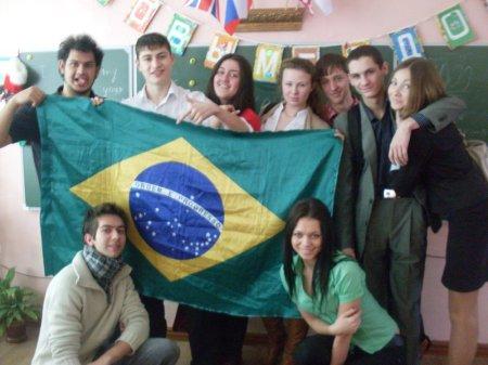 Uma das turmas que o Fernando dava aulas na Rússia.