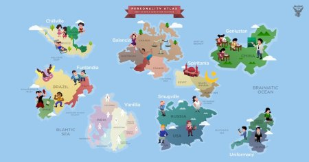 mundo enxerga países