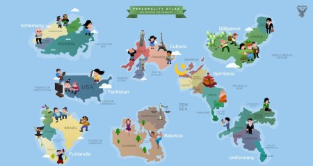 países enxergam o mundo