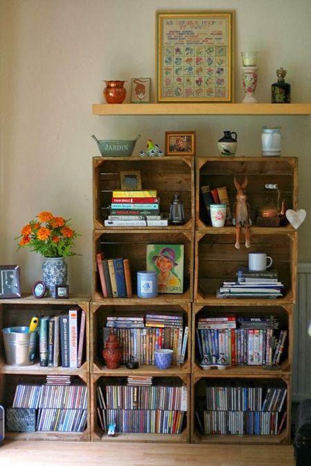 Caixotes para livros